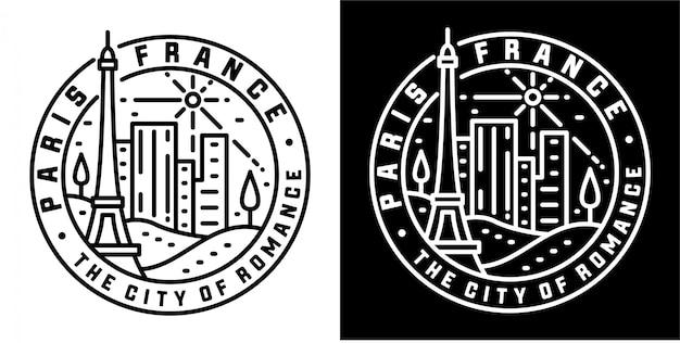 Monoline odznaka projekt paryż francja