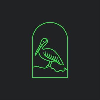 Monoline pelican