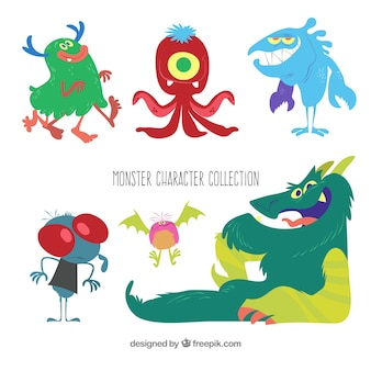 Monster pack of six