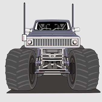 Monster truck duża stopa