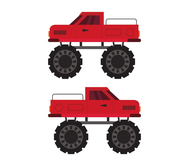 Monster truck na białym tle