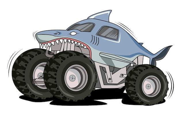 Monster truck z rekinami