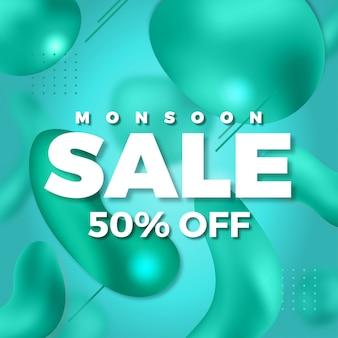 Monsun sprzedaży ciekły abstrakcjonistyczny tło