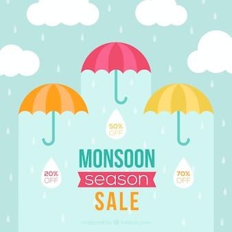 Monsunowy sezon sprzedaży tło