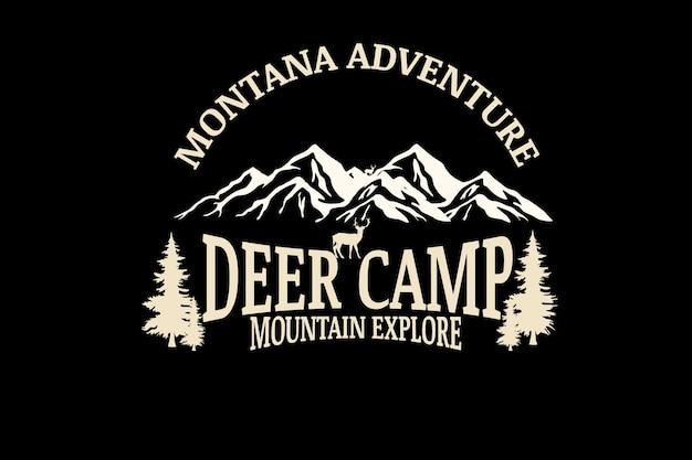 Montana przygoda z jeleniem w górach odkrywania kremu koloryzującego