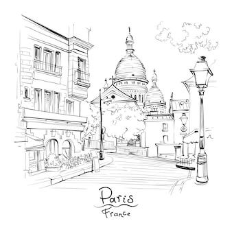 Montmartre w paryżu, francja
