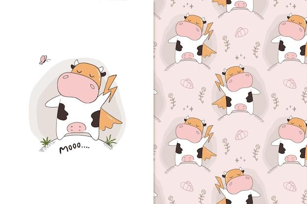 Moo super wzór krowy
