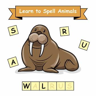 Mors nauczyć się literować zwierzęta