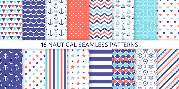 Morskie, morskie wzór. ilustracja. morskie tła.