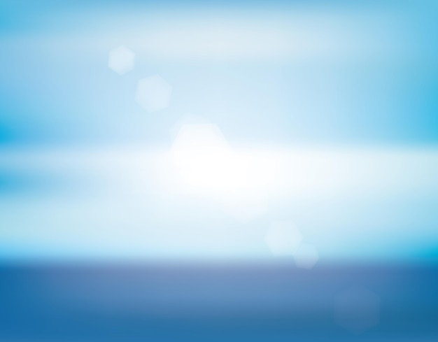 Morze blure na białym tle piękny letni krajobraz