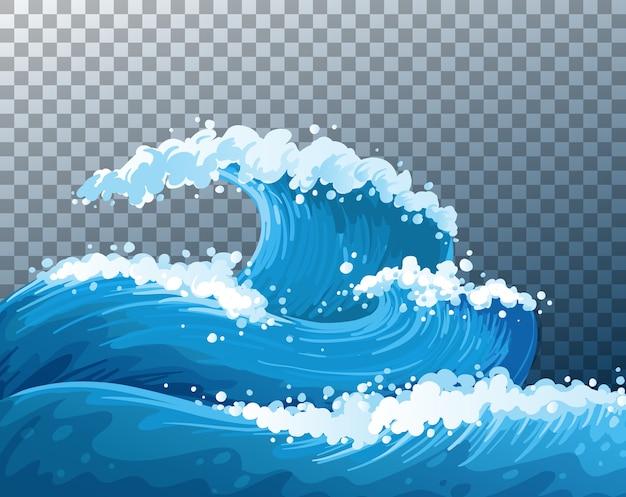 Morze gigantyczne fale przezroczyste tło