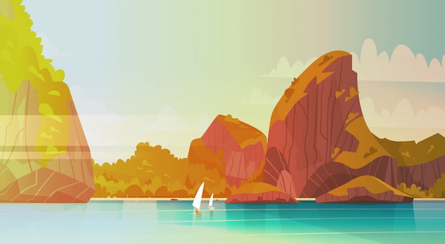 Morze krajobraz piękna azjata plaża z góry wybrzeża nadmorski widoku lata seascape