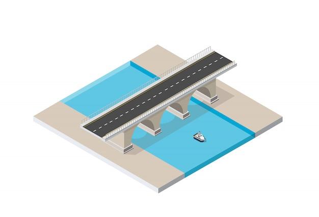 Mostowa droga miejskiej infrastruktury jest
