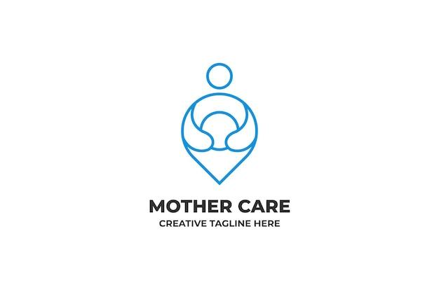 Mother care rodzicielstwo logo społeczności karmienia piersią