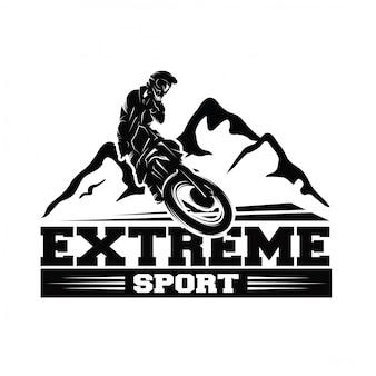 Moto track lub motocross jump vector logo