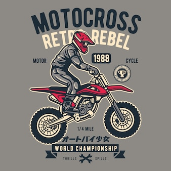 Motocross retro rebel