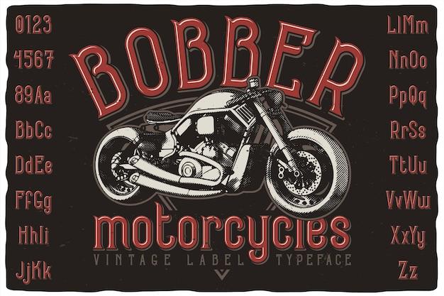Motocykl i czcionka
