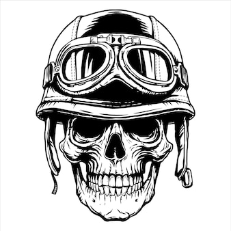 Motocykl motocyklista czaszka głowa hełm moto tattoonemblem,