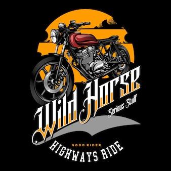 Motocykl retro w jednolitym kolorze