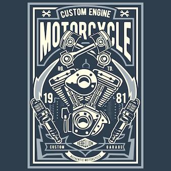 Motocykl z silnikiem niestandardowym