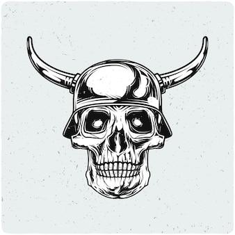 Motocyklista czaszka