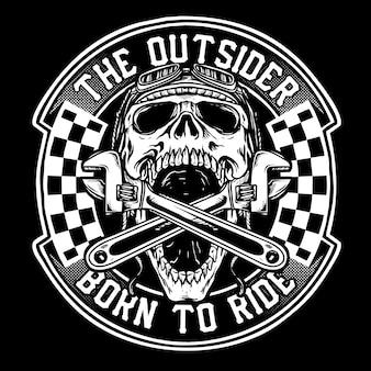 Motocyklista czaszki