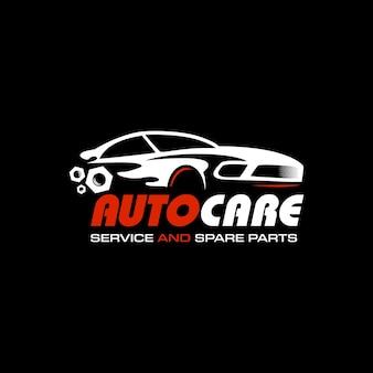 Motoryzacja logo design samochód sylwetka wektor