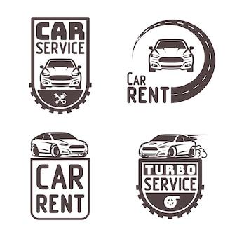 Motoryzacja wynajem samochodów naprawa logo szablon projektu wektor