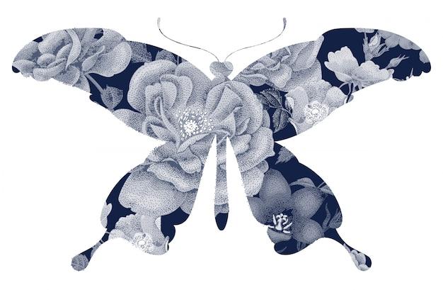 Motyl kwiatowy sylwetka.