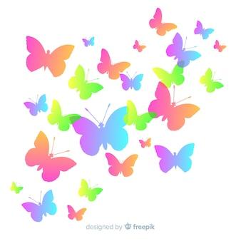 Motyl sylwetki pływające