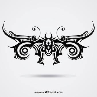 Motyl wektor tatuaż plemienny