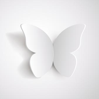 Motyl z białego papieru