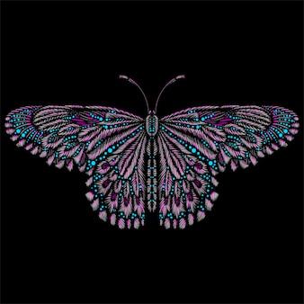 Motyl z logo wektorowym do tatuażu, koszulki lub odzieży wierzchniej