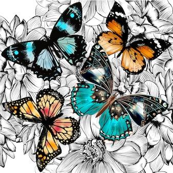 Motyle backgroud projektowe