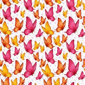 Motyle Bezszwowe Wzór Premium Wektorów