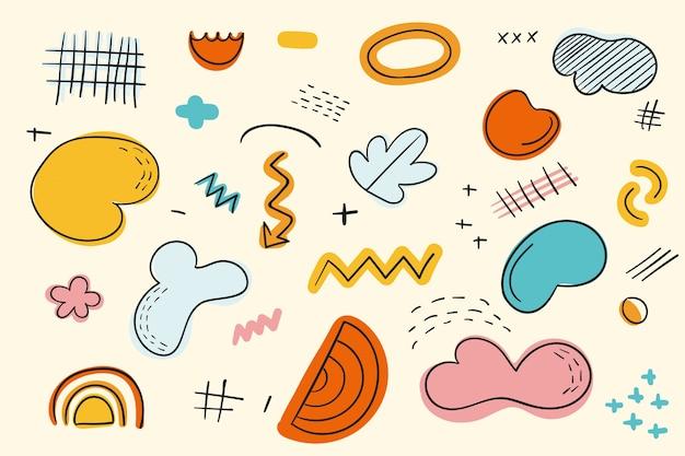 Motyw abstrakcyjne kształty organiczne na tapetę