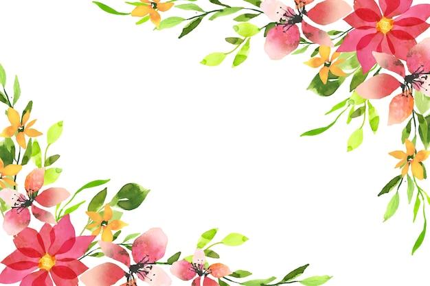 Motyw akwareli tapetą z motywem kwiatowym