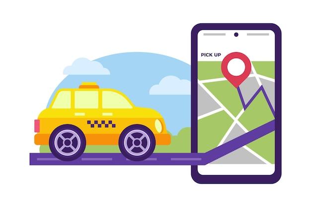 Motyw aplikacji usługi taxi