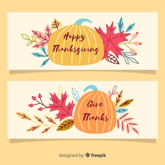 Motyw artystyczny banery dziękczynienia