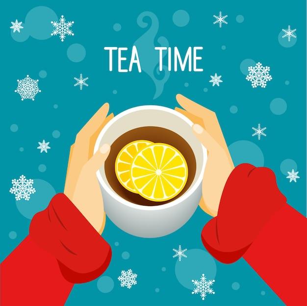 Motyw czas na herbatę.