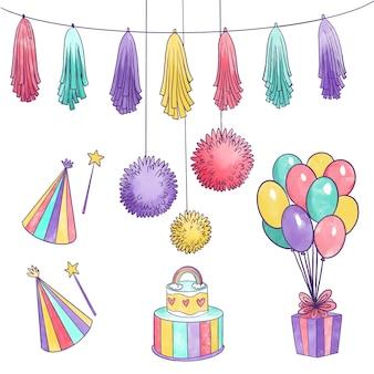 Motyw dekoracji urodzinowej