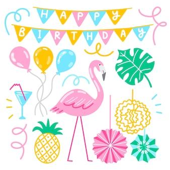 Motyw dekoracji urodzinowych