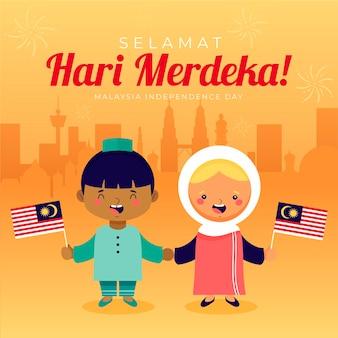 Motyw dnia niepodległości malezji
