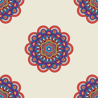 Motyw etniczne kolorowe tło bez szwu