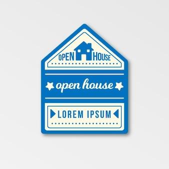 Motyw etykiety otwartego domu