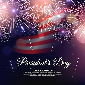 Motyw fajerwerków na dzień prezydentów