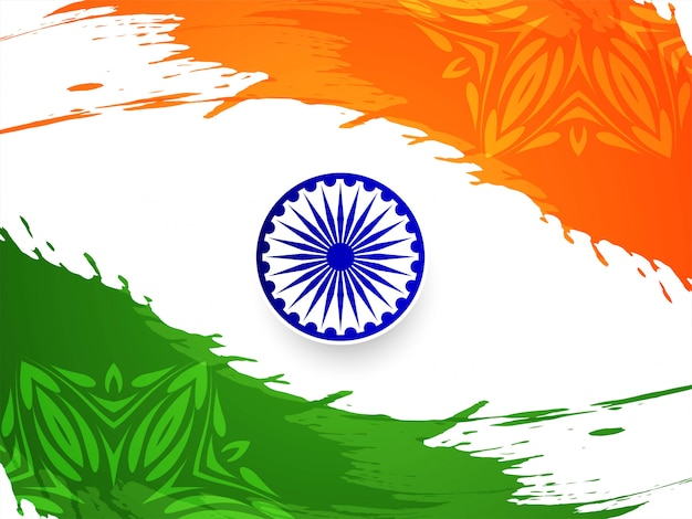 Motyw flagi indii stylowy tło dzień republiki