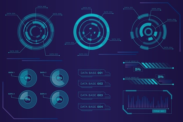 Motyw futurystyczny infografiki