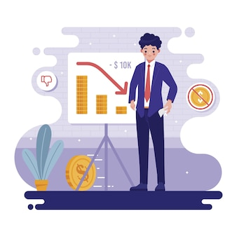 Motyw ilustracji bankructwa
