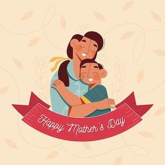 Motyw ilustracji dzień matki